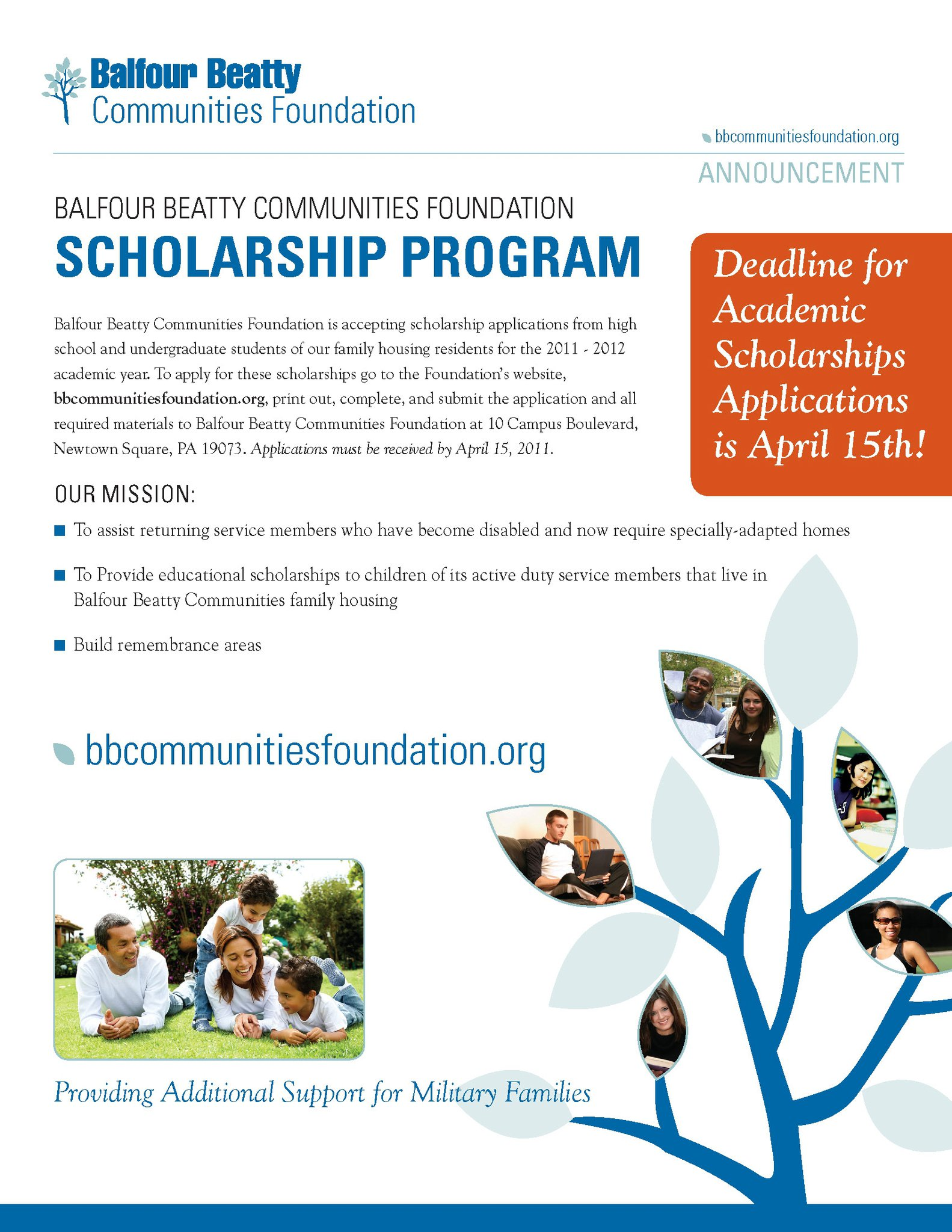 Balfour Beatty (Housing) is Giving Scholarships!