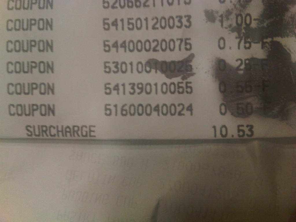 That Damn Commissary Surcharge!