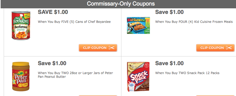 More Coupons For Commissary Patrons Only From ConAgra Foods