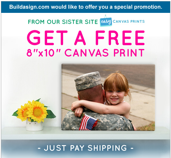 BuildAsign.Com Offering FREE 8X10 Canvas Prints to Military Families