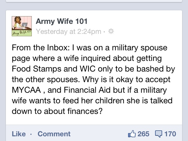 Yes Some Military Families Get Food Stamps…Stop The Judgement…Also A Resource for Help for Military Families Who May Need Assistance.