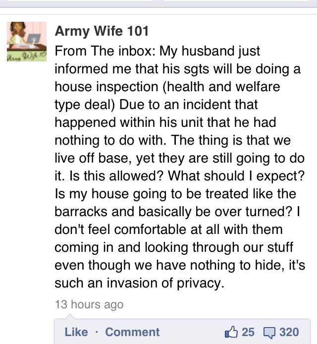 Can The Army Inspect My House If I Live Offpost?