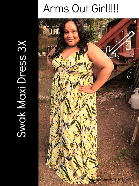 Plus Size Fashion & Style With Army Wife 101: Woot I Wore My Arms Out…Maxi Dress Fetish!