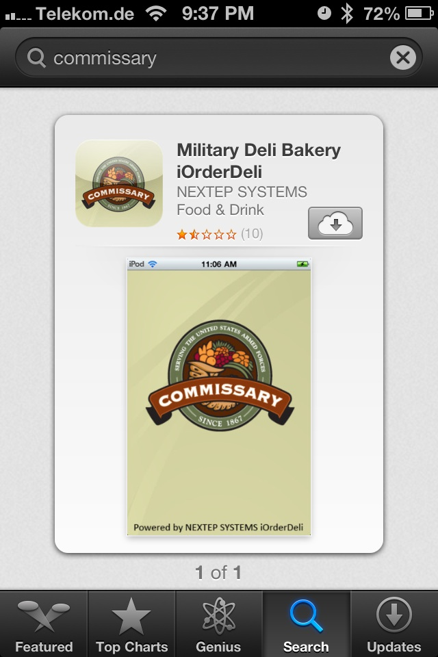 New Commissary Deli Phone App For Military Folks In Texas and Virginia