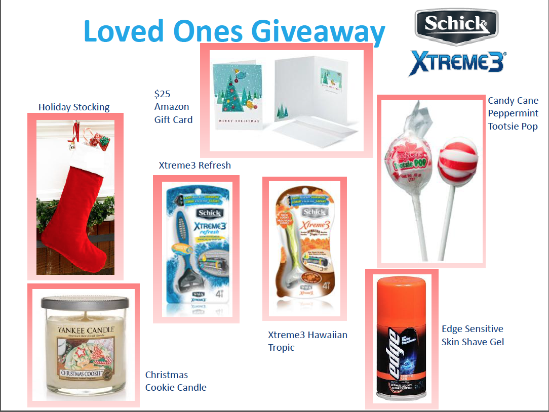iveaway CLOSED*Schick Razors Xtreme3 Loved Ones Holiday Care Package Giveaway…5 Winners!!!