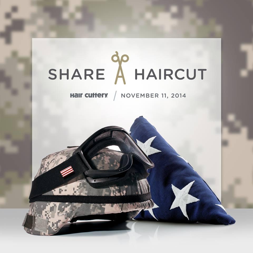 Help Veteran's Receive A Free Haircut on November 11th (Veteran's Day) At Hair Cuttery