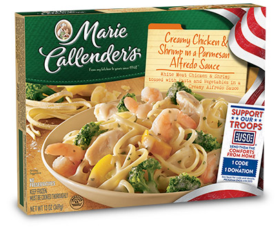 Enjoying Marie Callendar's Meals and Supporting Our Troops With Comforts From Home