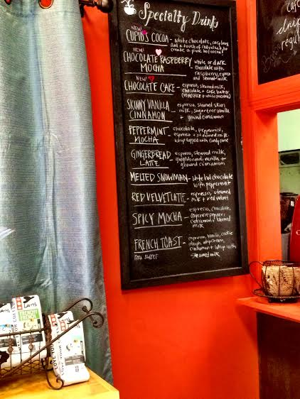 Some of the specialty flavors offered at The Coffee Cup
