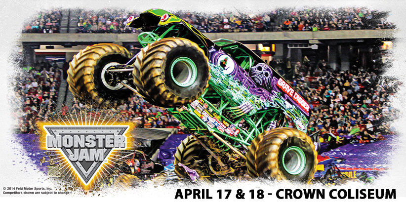 Fayetteville/Fort Bragg Happenings: Monster Jam Truck Show Comes To The Crown Coliseum+ Plus I'm Giveaway Away a Family 4 Pack to Friday's Show