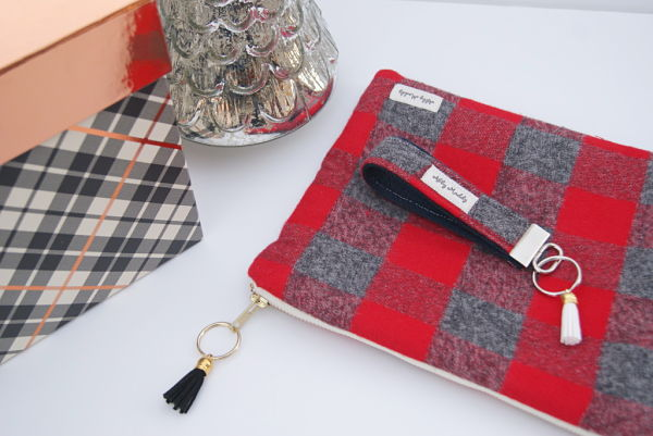 Abby's Maddy's Limited Edition Plaid To Be Here KeyFob