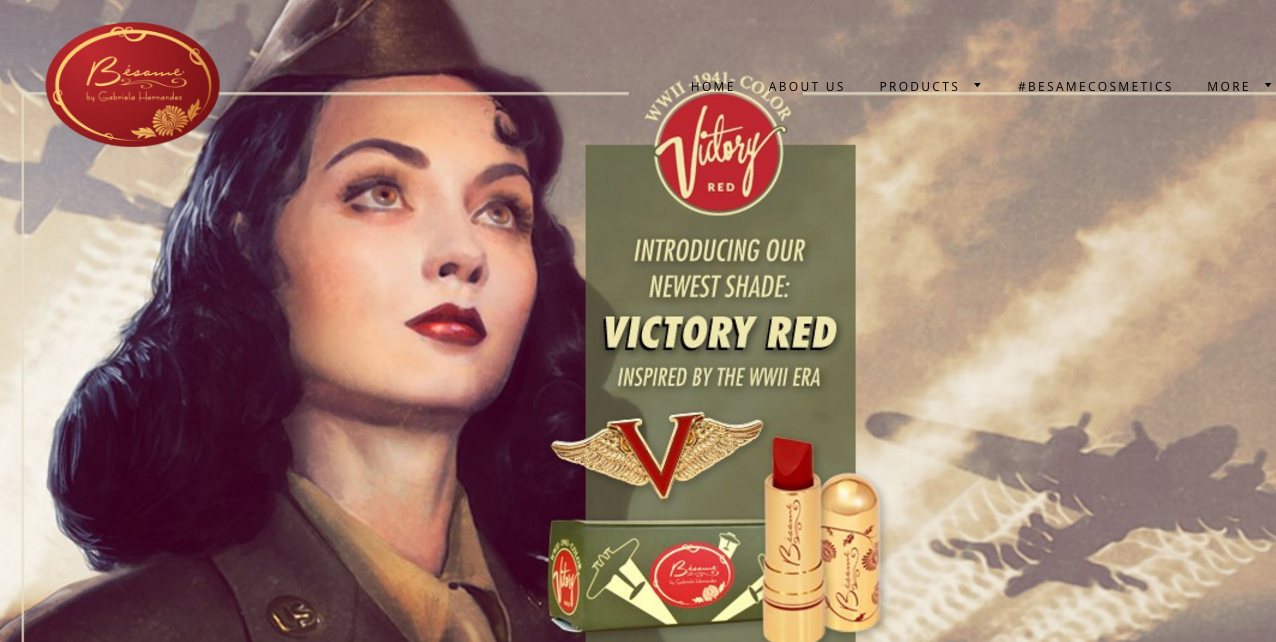 "Besame Cosmetics Releases New ""1941 Victory Red"" Lipstick and It's For A Good Cause Too"