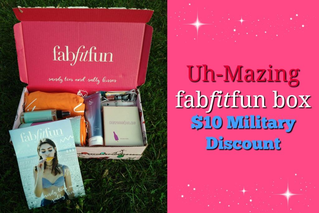 Uh-Mazing FabFitFun Box + $10 Off For Military