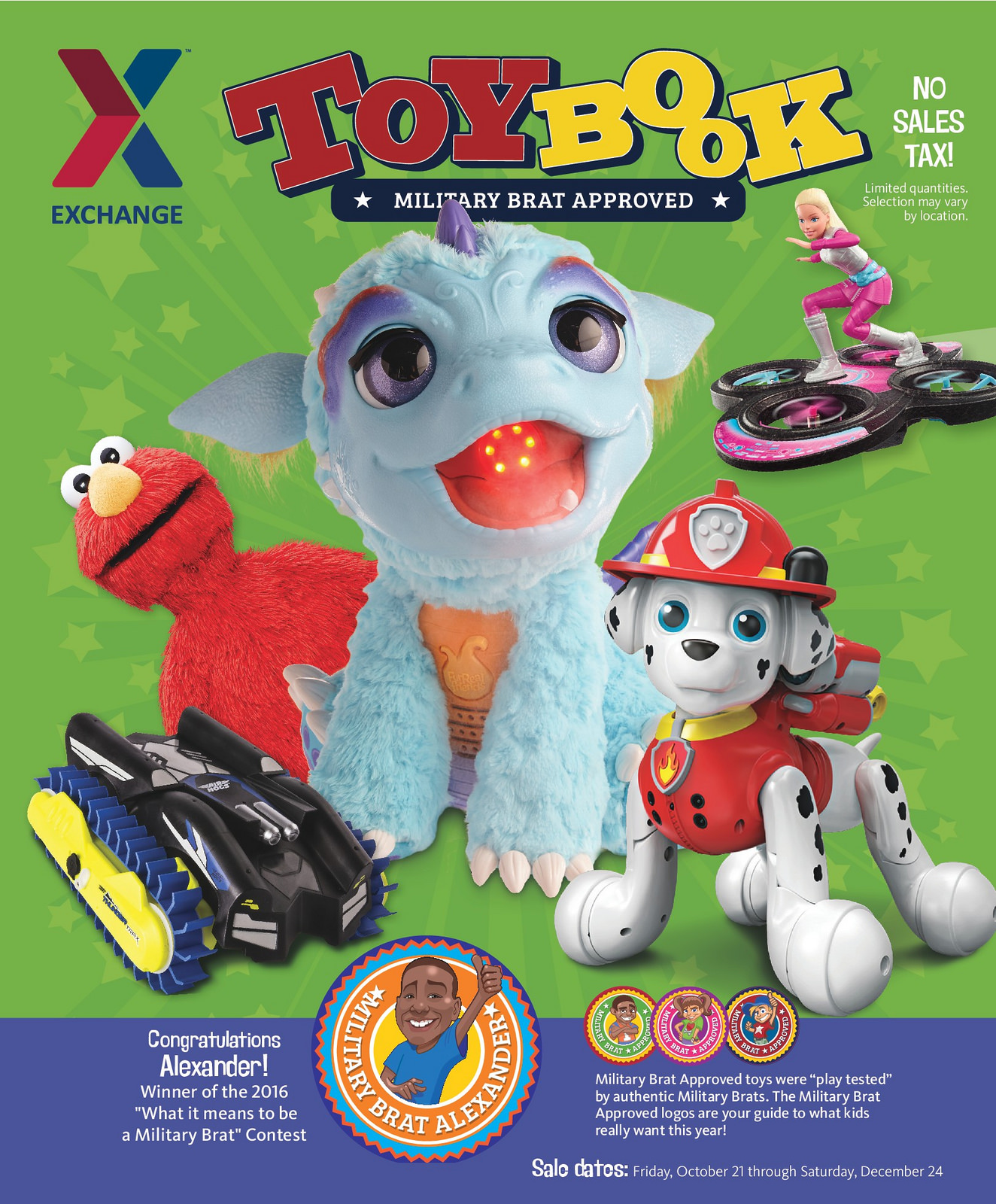 "AAFES AKA The PX Releases 2016 Holiday Toybook With ""Military Brat Approved Toys"""
