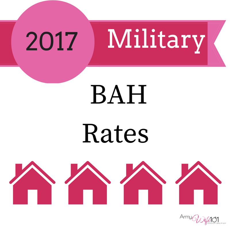 2017 Military BAH Rates Are Here