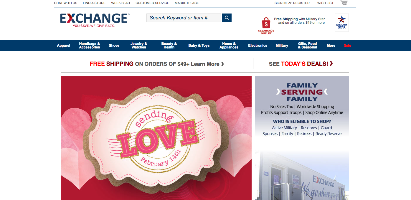 Shopmyexchange.com Will Open to All Honorably Discharged Veterans