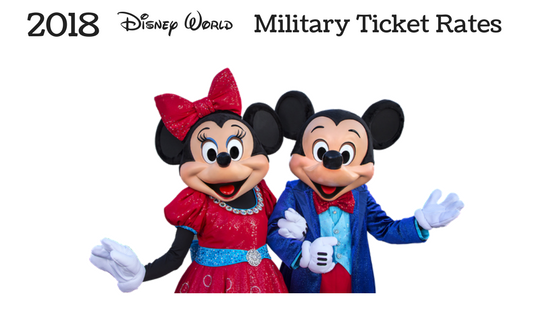 Disney World Announces 2018 Military Ticket Rates