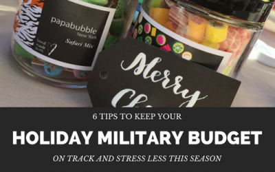 Six Tips to Keep Your Holiday Military Budget on Track and Stress Less this Season