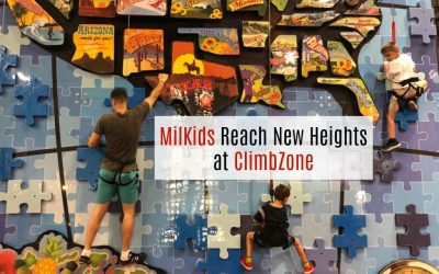 MilKids Reach New Heights at ClimbZone