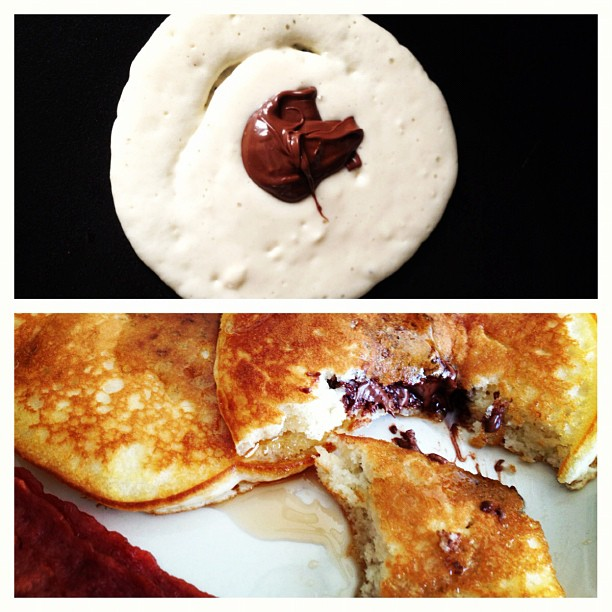 Attention Nutella Addicts: Super Simple Nutella Filled Pancakes Recipe