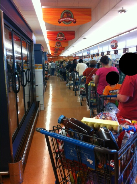 This reader said the line was wrapped all the way to the back. They had a pretty good spot though.