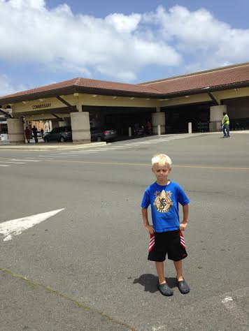 Laura's son Zachary in what  was considered workout gear.