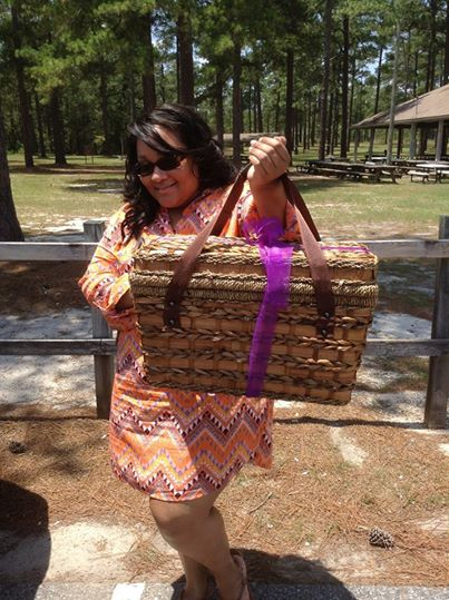 My awesomely cute picnic basket from Prilosec.