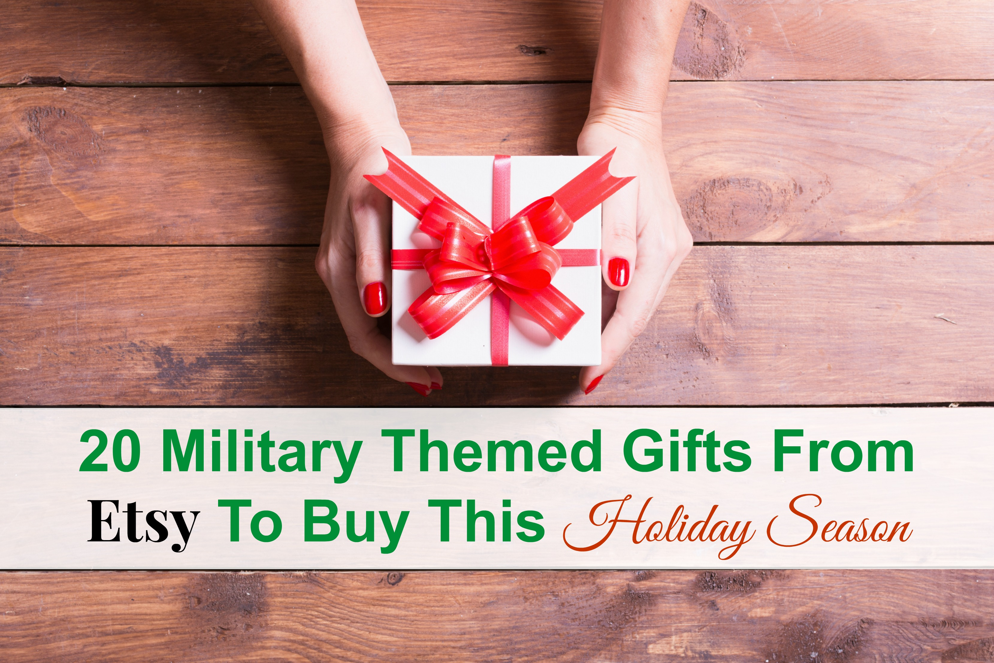 20 Military Themed Gifts From Etsy To Buy This Holiday Season