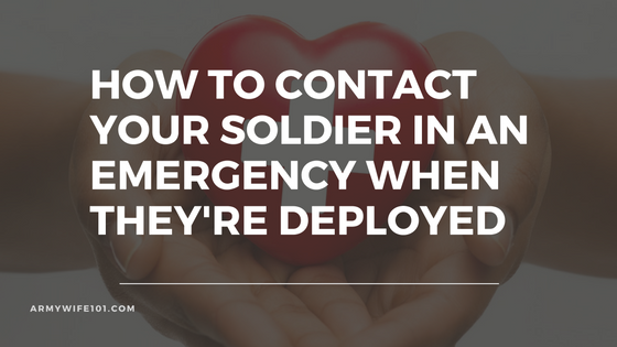 How To Contact Your Soldier In An Emergency When They're