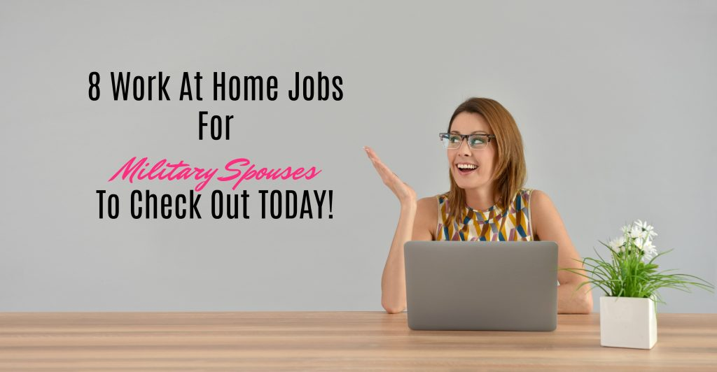 8 work at home jobs for military spouses to check out today army wife 101. Black Bedroom Furniture Sets. Home Design Ideas