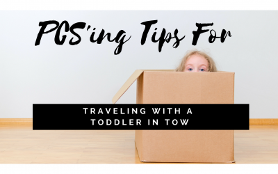 PCSing Tips for Traveling with a Toddler in Tow