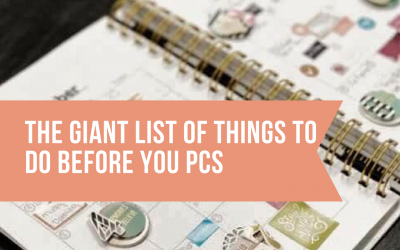 The Giant List of Things to Do Before You PCS