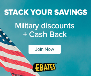 Earn Cash Back Plus Your Military Discount