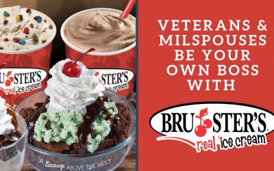 8 Reasons Why Veterans & Milspouses Should Be Their Own Boss With Bruster's Real Ice Cream