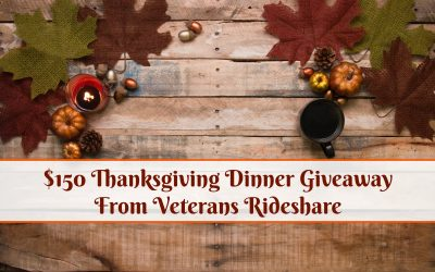 $150 Thanksgiving Dinner Giveaway From Veterans Rideshare